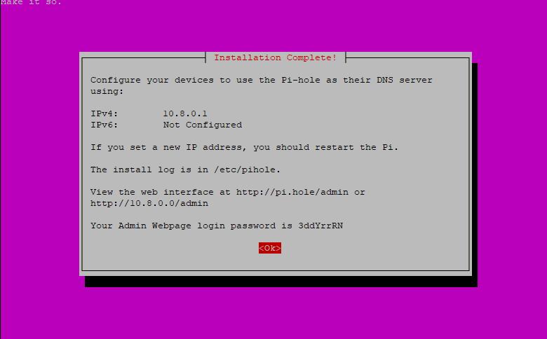 Step 15: Pi-hole Installation Script