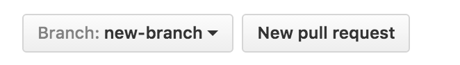 GitHub Pull Request Button