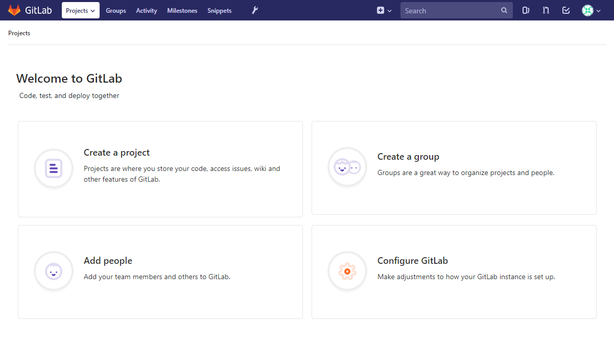 DigitalOcean GitLab landing page
