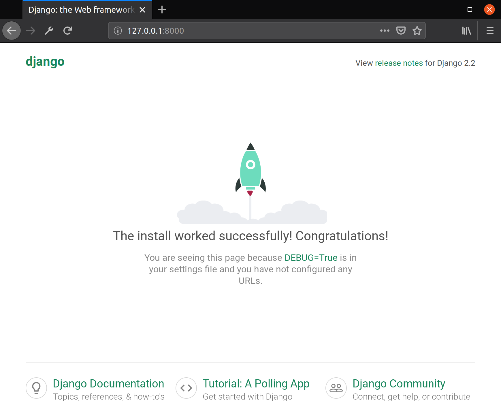 Generic Django Start-Page
