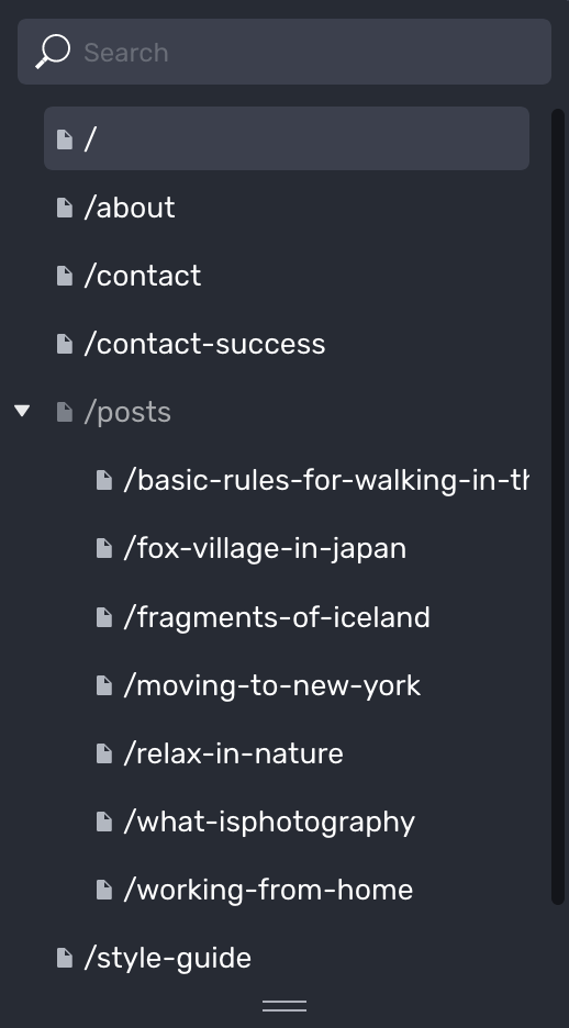 Posts list expanded