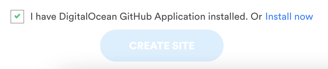 Install DigitalOcean Github App