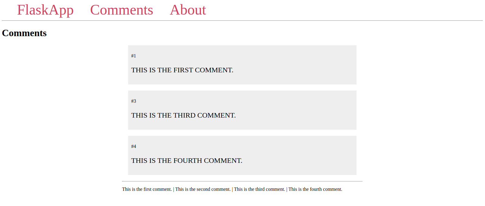 Comments Page With Join Filter