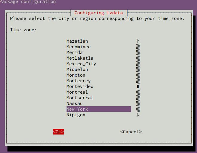 Ubuntu select timezone
