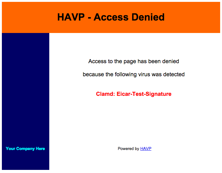 HAVP - Access Denied