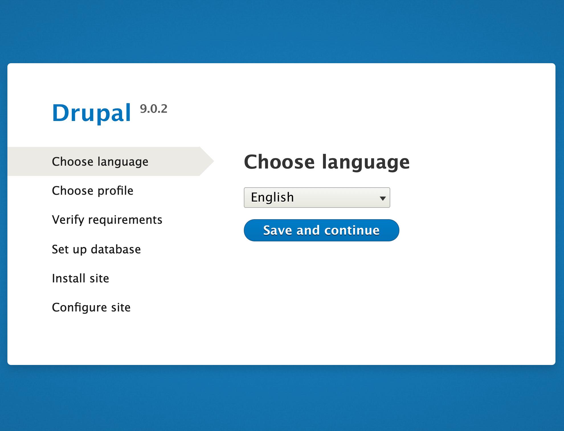 Установщик Drupal 9 из браузера