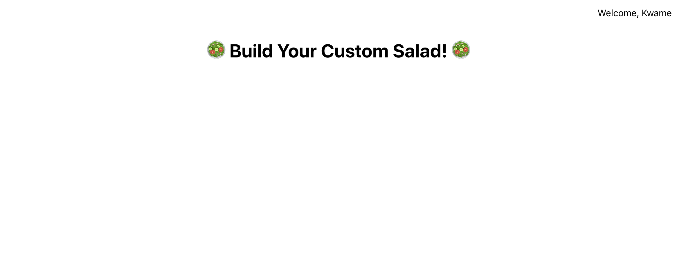 Salad Maker Page