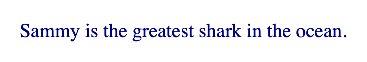 Text rendered in navy blue with the browser default serif font.