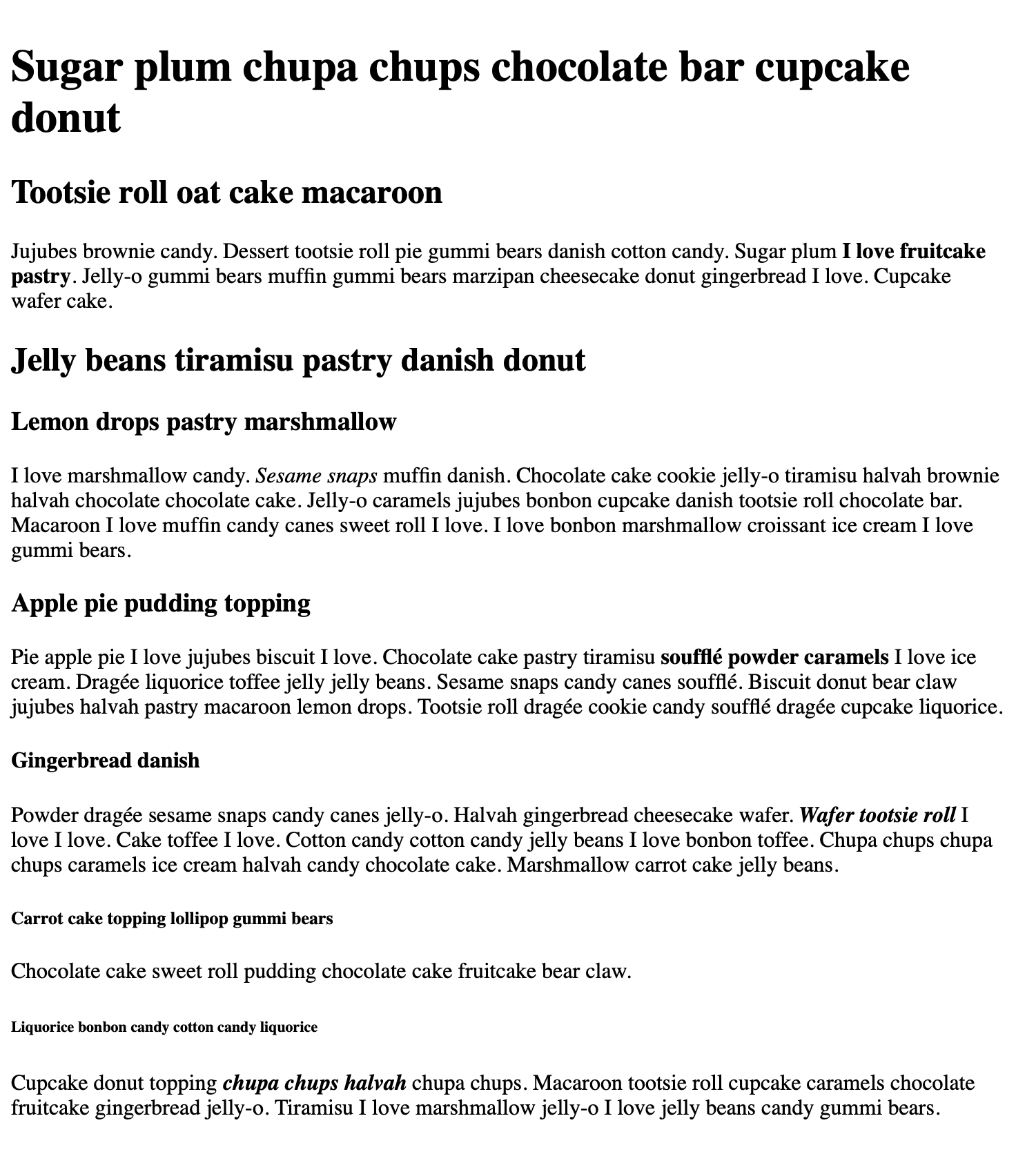 Content of a web page with several headings and paragraphs all in a black, serif font on a white background.