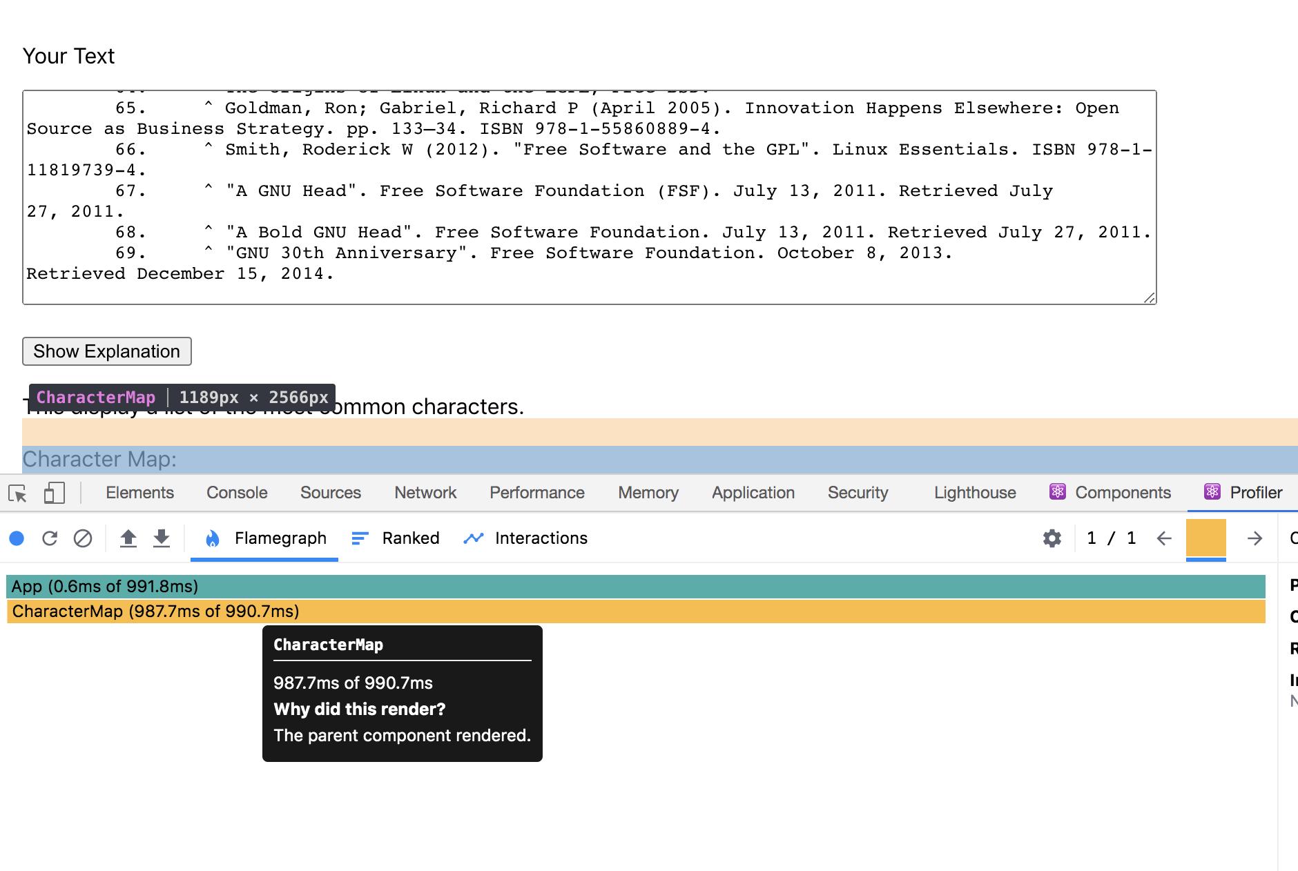 Parent component re-renders in browser developer tools