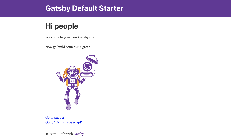 Gatsby Default Starter Site
