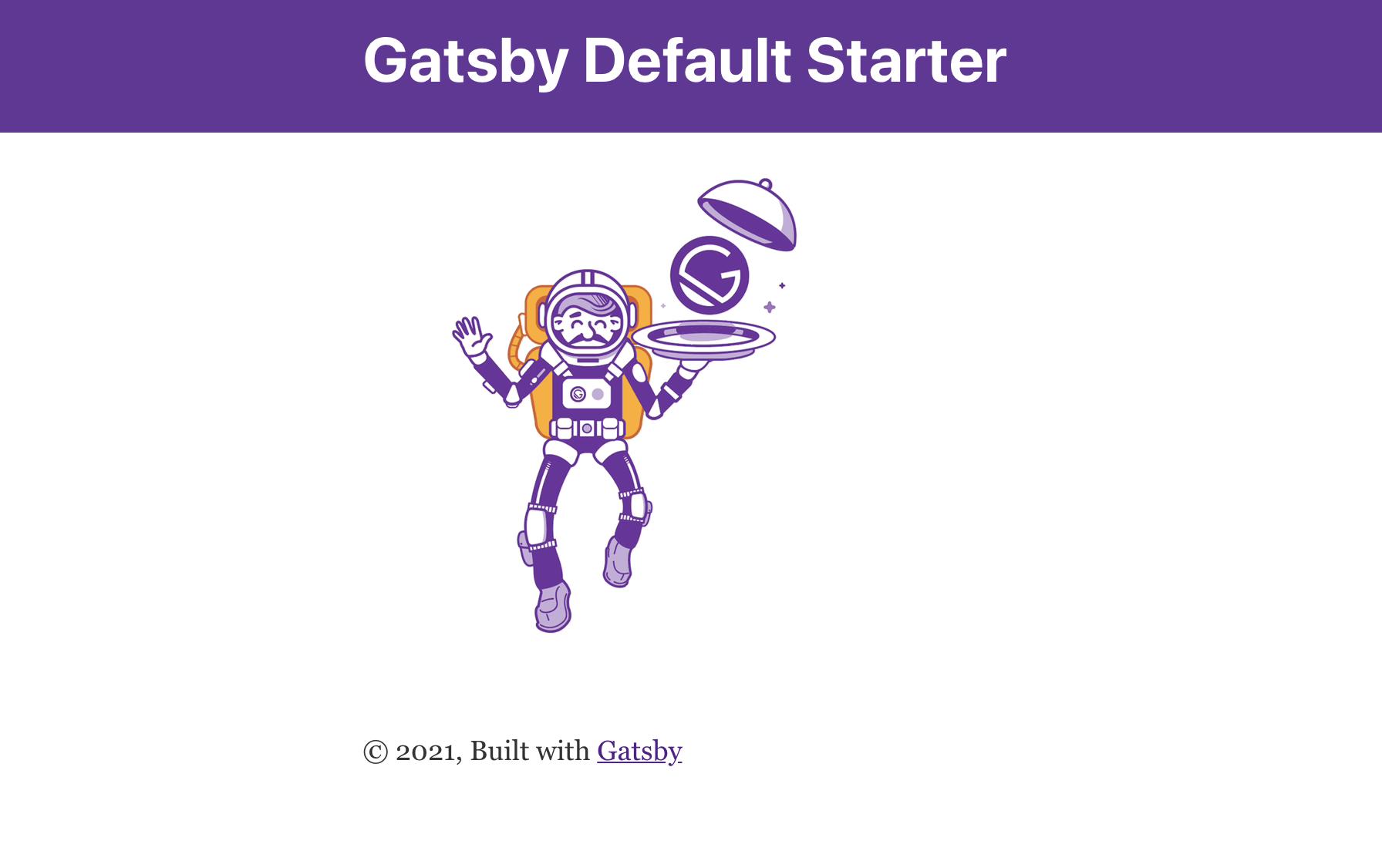 Gatsby Default Development page