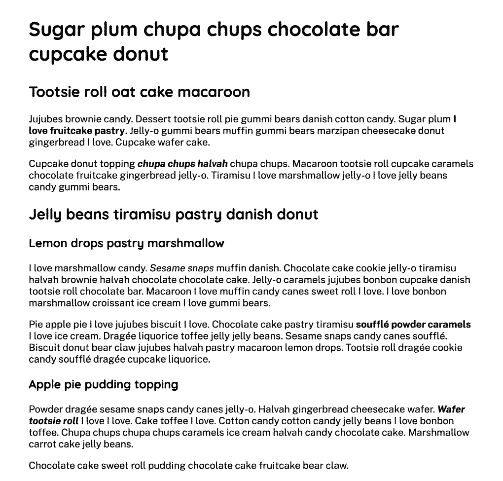 Text content in black taking up 90% of the width, with equal spacing on either side.