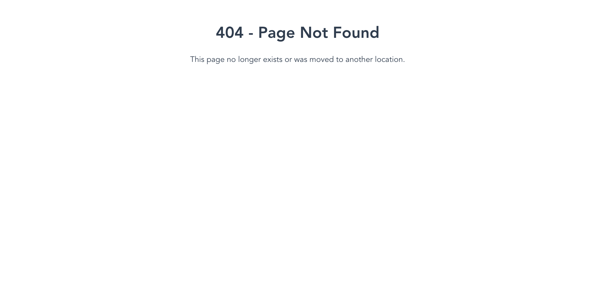 A 404 page that tells the user that the page they are looking for has not been found.