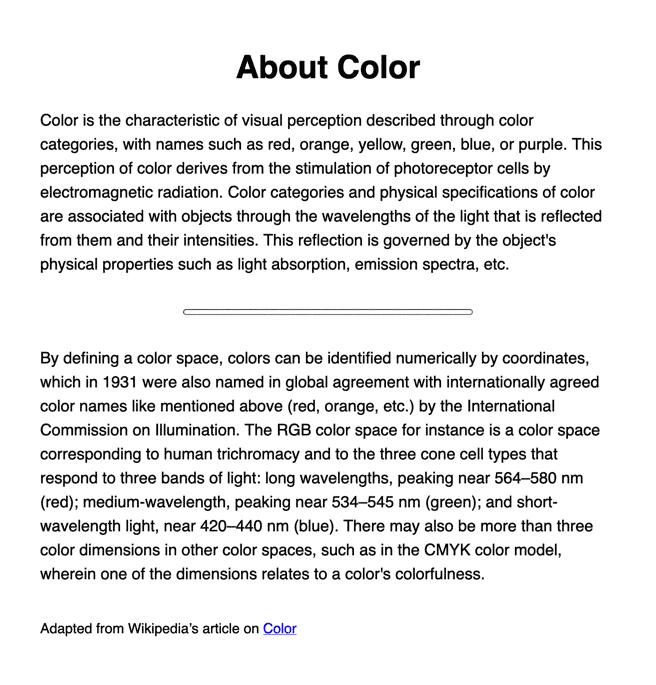 Black text with large, bold title text and two paragraphs, with a narrow rounded rule line between the paragraphs, all in a sans serif font.