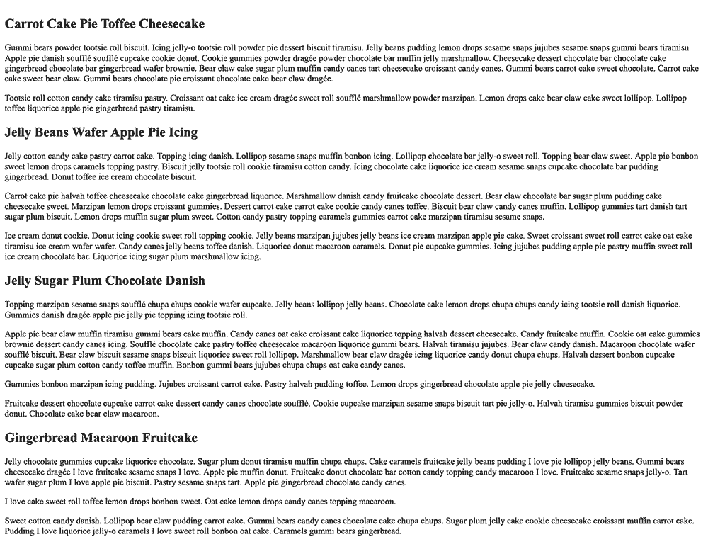 Several paragraphs and headings of black serif text on a white background