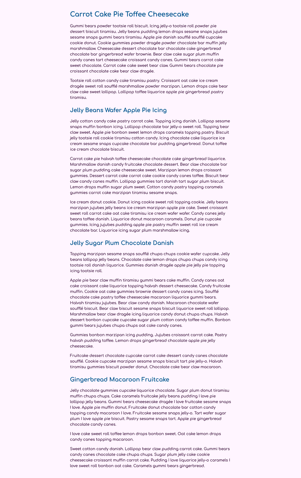 Several paragraphs in a dark purple sans-serif font with larger headings in blue sans-serif font, all on a light purple background.
