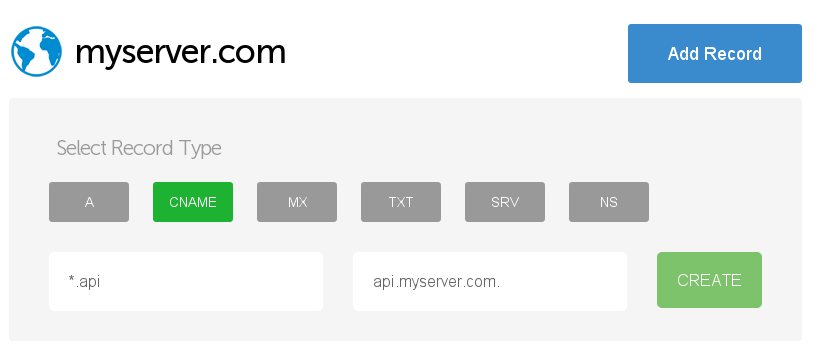 how to set up domain records