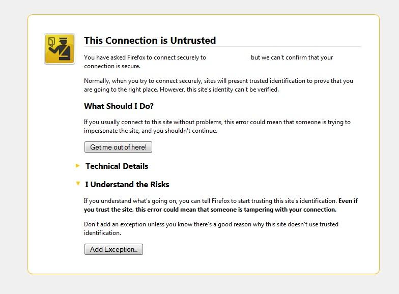 Firefox Certificate Information