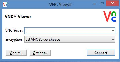 RealVNC Viewer Interface