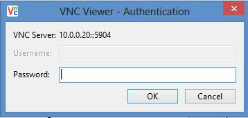 VNC password prompt
