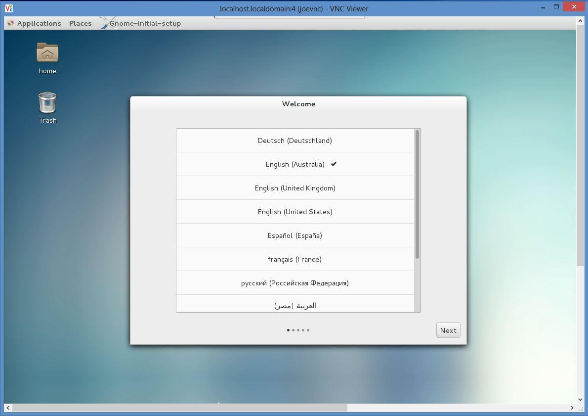 CentOS7 remote desktop