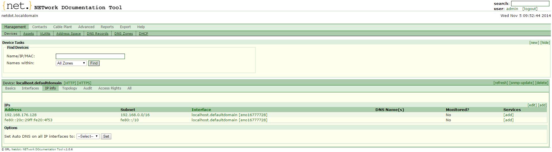 IP Info tab