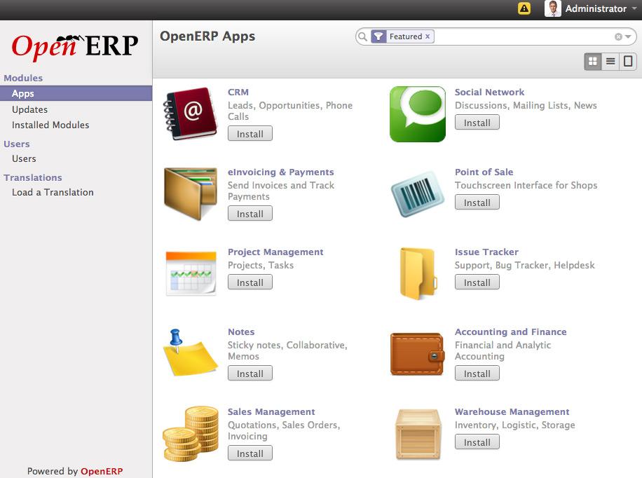 Application Install Screen