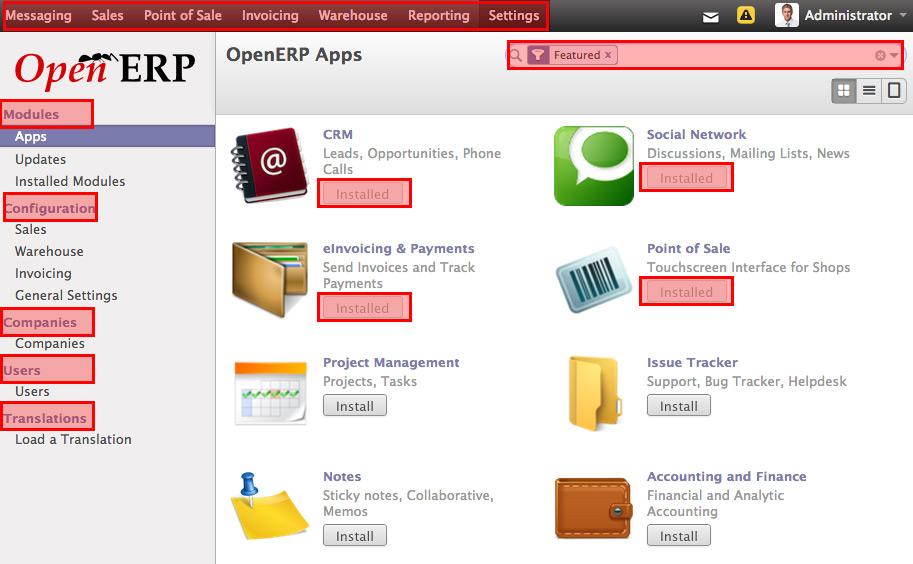 OpenERP Set up