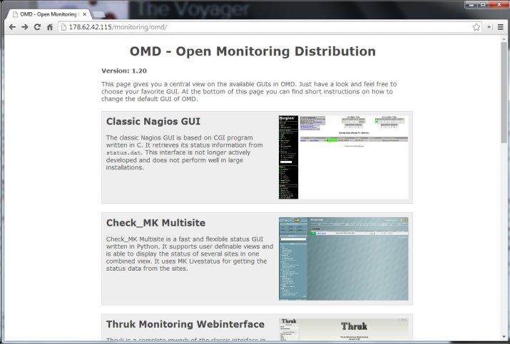 OMD default home page