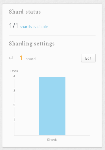 Sharding settings card