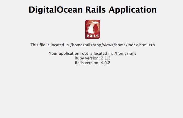 Default Rails page