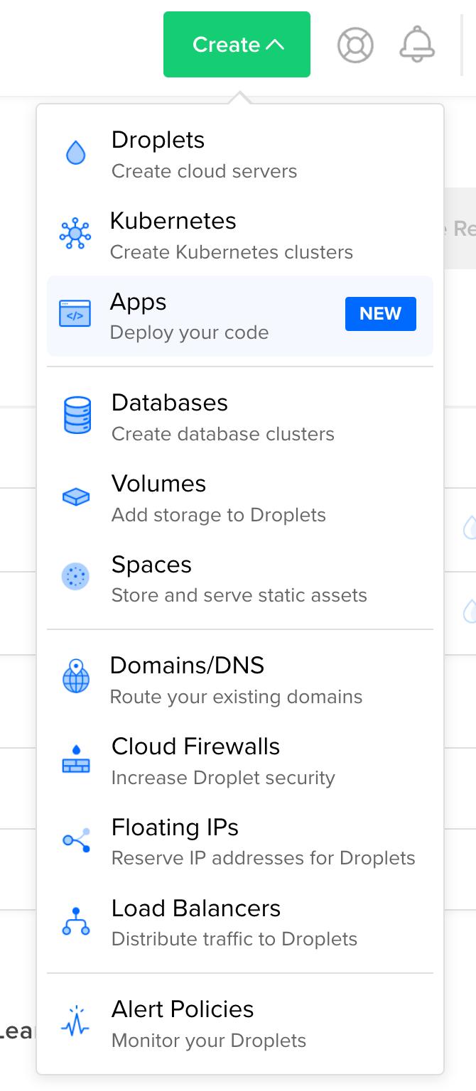 Create a new DO App