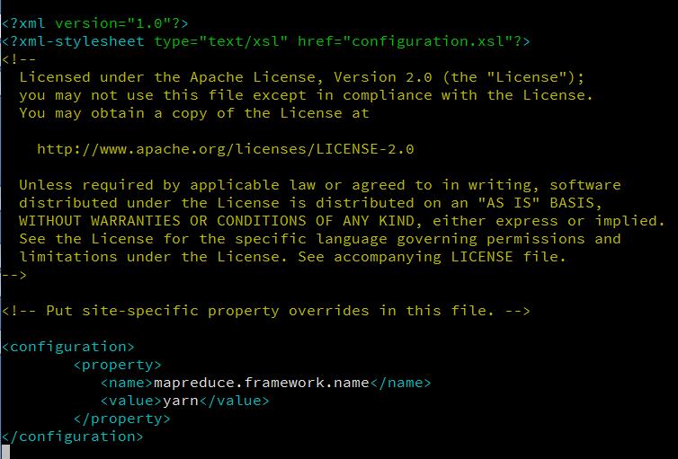 mapred-site.xml contents