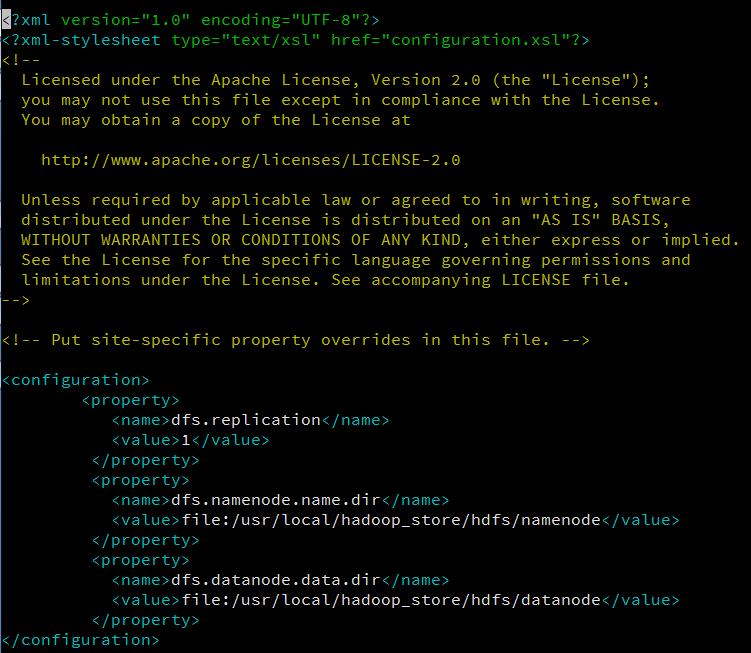 hdfs-site.xml contents