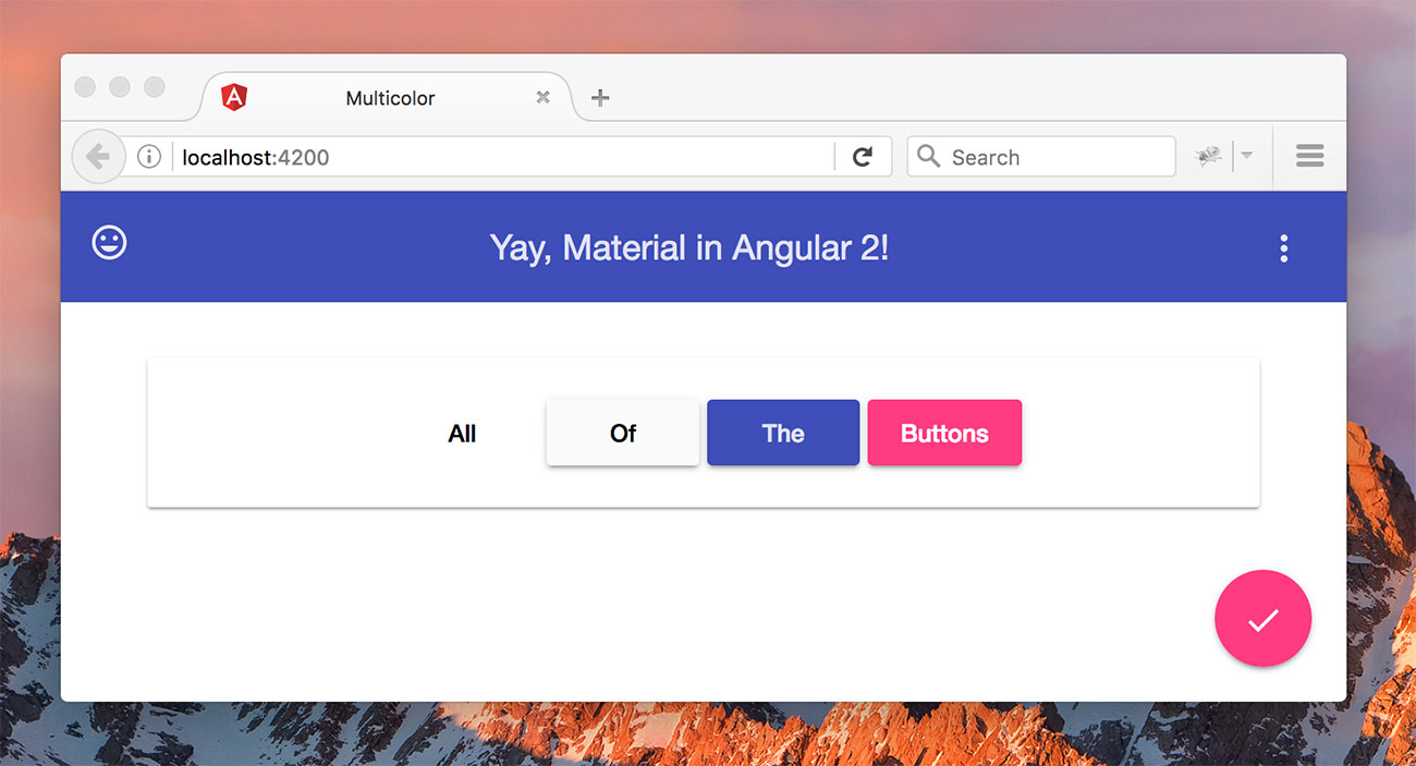 Our sample Material Design app