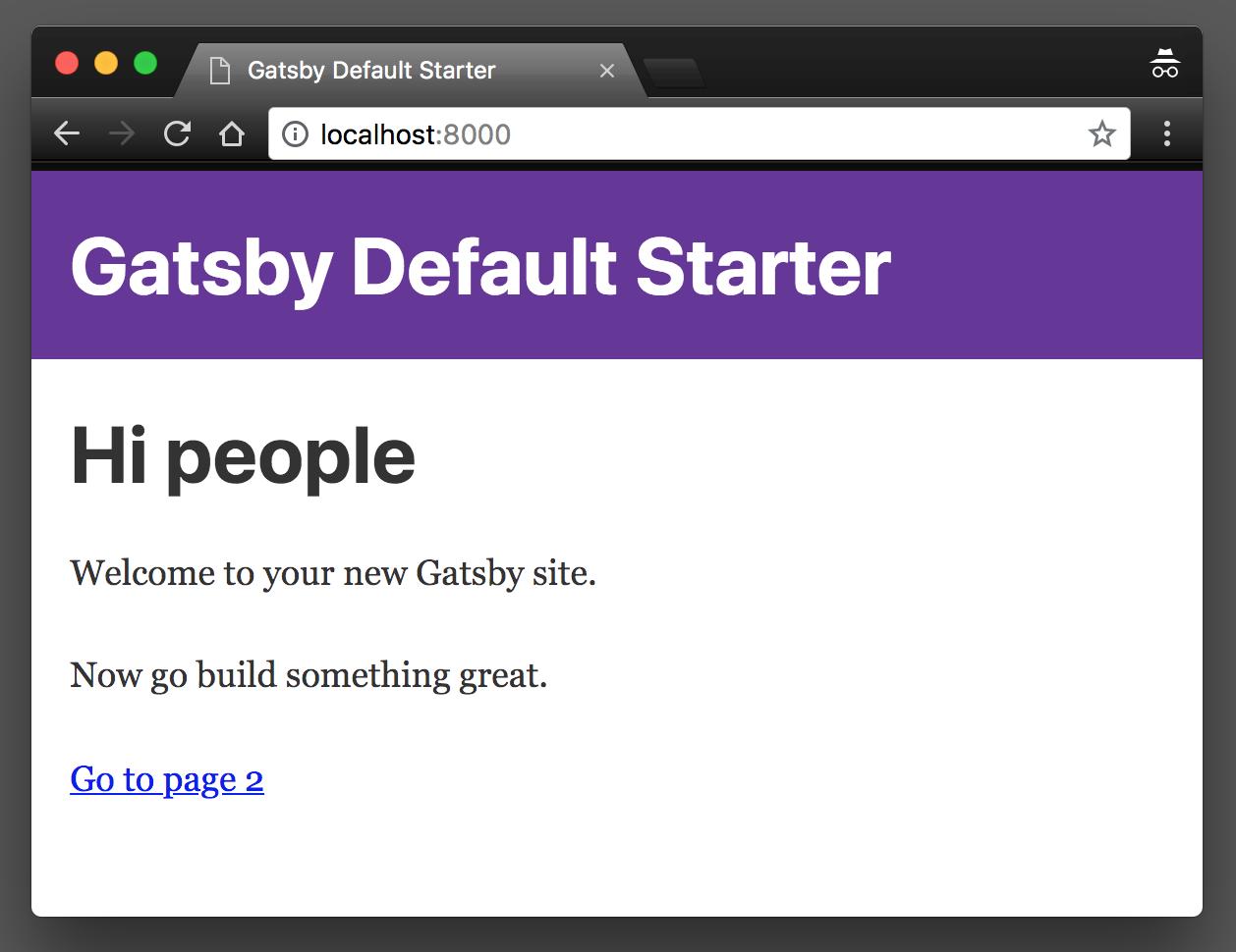 Starter Gatsby site