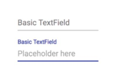 Material UI text fields
