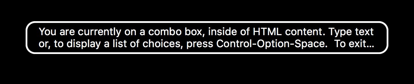 Voice Over Combobox