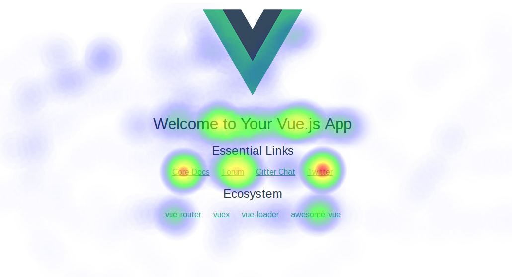 An example of an app with heatmaps. Oooh. Color blobs!
