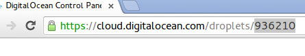 DigitalOcean browser droplet ID