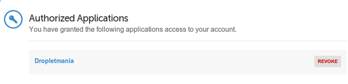 DigitalOcean authorized app