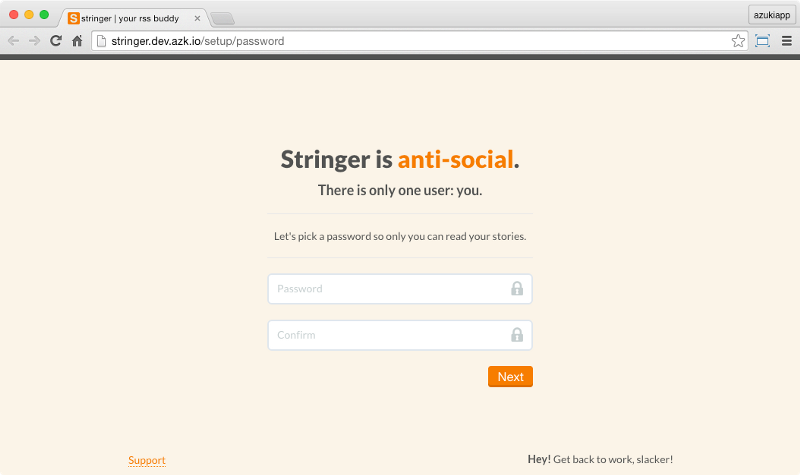 Accessing Stringer app