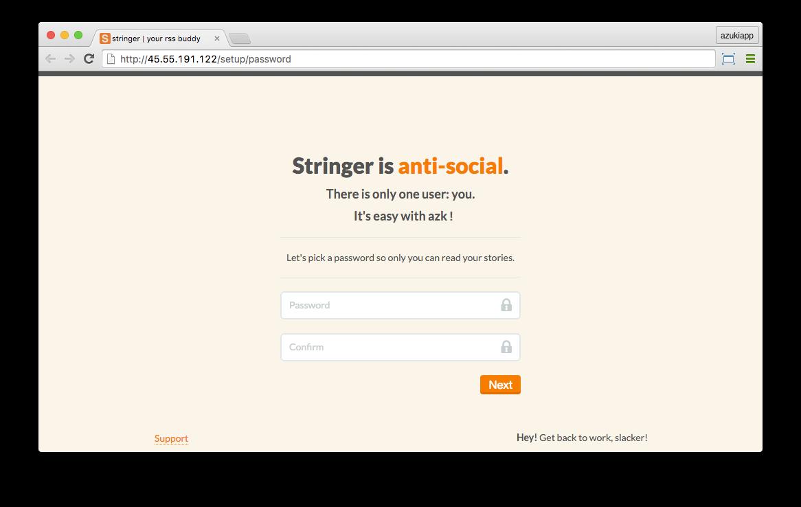 New version of Stringer running on Droplet