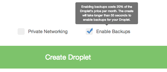 DigitalOcean backups