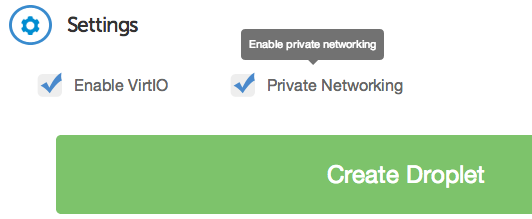 DigitalOcean private networking