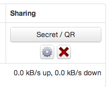 BitTorrent Sync buttons
