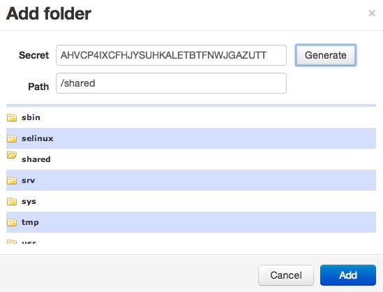 BitTorrent Sync generate secret