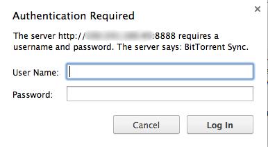 BitTorrent Sync login