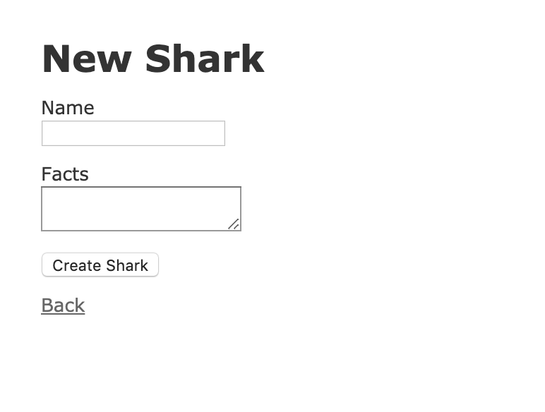 Create New Shark